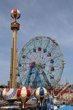 Wonder Wheel at the Coney Island amusement park Stock Photos