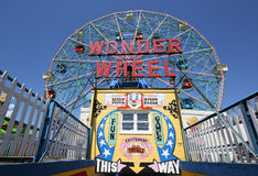 Wonder Wheel at the Coney Island amusement park. Stock Images