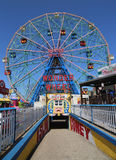 Wonder Wheel at the Coney Island amusement park. Stock Photo