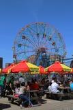 Wonder Wheel at the Coney Island amusement park Stock Image