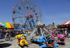 Wonder Wheel at the Coney Island amusement park Royalty Free Stock Images