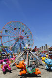 Wonder Wheel at the Coney Island amusement park Royalty Free Stock Photos