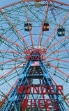 Wonder Wheel at the Coney Island amusement park Stock Photo