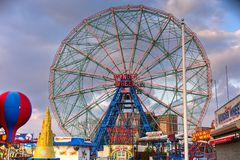 Wonder Wheel - Coney Island. New York City - December 10, 2017: Wonder Wheel in Luna Park. Its an amusement park in Coney Island opened on May 29, 2010 at the Stock Photos