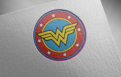 Free Wonder-woman-3 On Paper Texture Stock Photography - 205683232