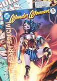 Wonder Woman comics. Wonder Woman comic collection featuring a 75 anniversary edition stock photography