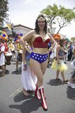 Wonder Woman imitator Royalty Free Stock Image