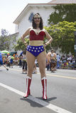 Wonder Woman imitator Stock Images