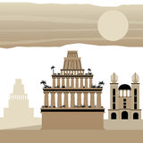7 Wonder of the world Ancient Babylon. Vector stock illustration
