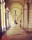 Wonderdul łuki w Lisbon Portugal Obrazy Royalty Free