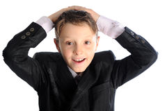 Wondered boy Stock Photography