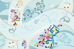 Wonderful abstract background. Abstract background with swirls and floral elements - eps10 vectors royalty free illustration