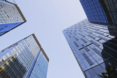 Wonderful Abstract city buildings with cloud blue Stock Photography