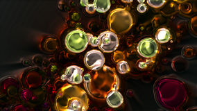 Wonderful abstract illustrated glass Stock Photo