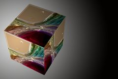 Wonderful abstract illustrated glass design Royalty Free Stock Image