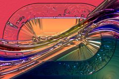 Wonderful abstract illustrated glass design Royalty Free Stock Photography