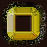 Wonderful abstract illustrated glass object Stock Photos