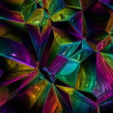 Wonderful abstract illustrated glass object Stock Images