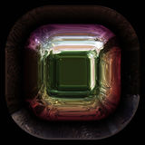 Wonderful abstract illustrated glass object Stock Photography