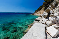 Wonderful Adriatic Sea with Deep Blue Water Stock Images