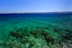 Wonderful Adriatic Sea with Deep Blue Water Royalty Free Stock Photos