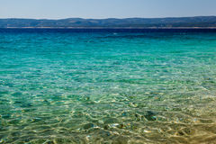 Wonderful Adriatic Sea with Deep Blue Water near Split Royalty Free Stock Photo
