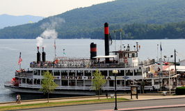A wonderful afternoon cruise on historic Minne-Ha-Ha, a working steamboat on Lake George,New York,2015 Royalty Free Stock Photos
