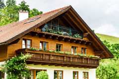 Wonderful alpine classic house Royalty Free Stock Photos