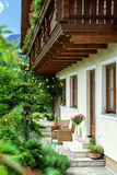Wonderful alpine classic house Stock Photos