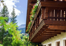 Wonderful alpine classic house Royalty Free Stock Image