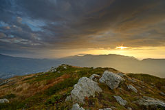 Wonderful alpine sunrise Stock Photography