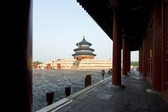 Wonderful and amazing Beijing temple - Temple of Heaven in Beijing, China. Hall of Prayer for Good Harvest.. royalty free stock photos