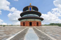 Wonderful and amazing Beijing temple - Temple of Heaven in Beiji Royalty Free Stock Images