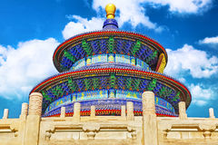 Wonderful and amazing temple - Temple of Heaven in Beijing. Stock Images