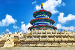 Wonderful and amazing temple - Temple of Heaven in Beijing. Stock Photography