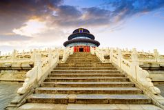 Temple of Heaven in Beijing, China. Wonderful and amazing temple - Temple of Heaven in Beijing, China.Translation:`Hall of Prayer for Good Harvest stock photos