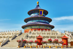 Wonderful and amazing temple - Temple of Heaven in Beijing.Trans Royalty Free Stock Images