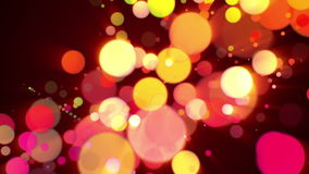 Wonderful animation with bubbles and lights in motion, loop HD 1080p stock video footage