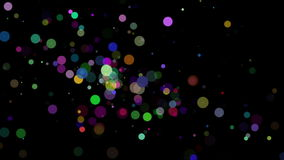 Wonderful animation with bubbles and lights in motion, loop HD 1080p