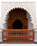 Wonderful Arabic Riad. Perfectly restored classical arabic riad with carved facade Stock Photos