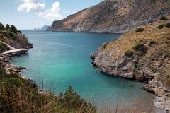 Wonderful Bay di Ieranto, Nápoles, Italia Imágenes de archivo libres de regalías