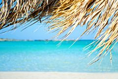 Wonderful beach on the island of Crete Royalty Free Stock Photo