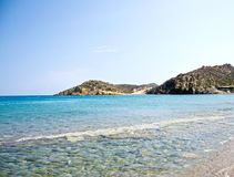 Wonderful beach on the island of Crete Royalty Free Stock Photography