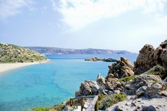 Wonderful beach on the island of Crete Royalty Free Stock Image