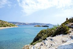 Wonderful beach on the island of Crete Stock Photography