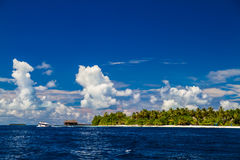 Wonderful beach landscape in Maldives Stock Images