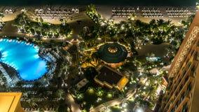 A wonderful beach in 5 stars Hotel Atlantis timelapse on man-made island of Palm Jumeirah. United Arab Emirates. stock video