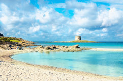 Wonderful beach in Stintino, Sardinia, Italy Royalty Free Stock Images