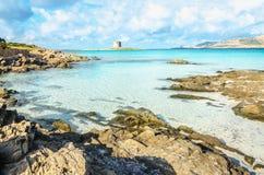Wonderful beach in Stintino, Sardinia, Italy Royalty Free Stock Photo