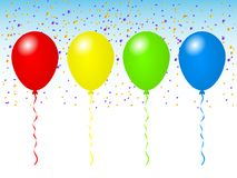 Wonderful beautiful design of festive colored balloons. On a light background Royalty Free Stock Images